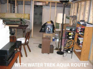 Dry basement with Water Trek Aqua Route installed