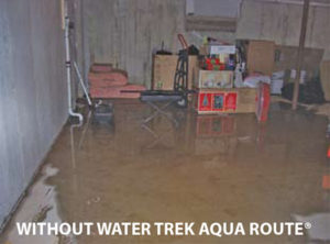 Basement flooding without Water Trek Aqua Route installed